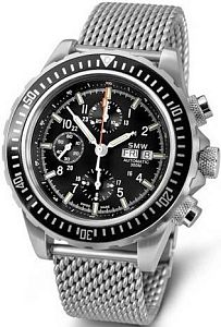 Мужские часы Swiss Military Watch SMW Chrono Valjoux 7750 SMW.M7.3M.C1G Наручные часы
